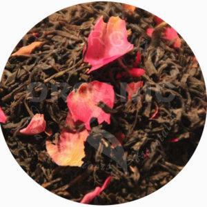 Грузинский цельнолистовой скрученный чёрный чай с розой