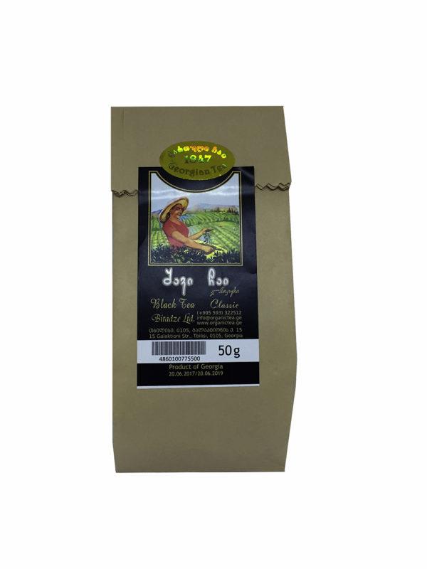 Грузинский классический чёрный чай в бумажной упаковке