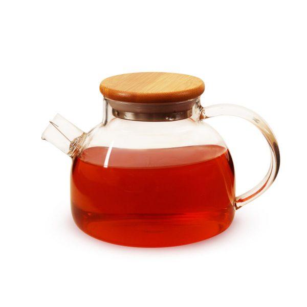 Стеклянный чайник из термостойкого стекла Бочонок 900 мл
